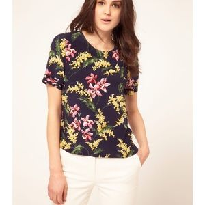 Whistles Wisteria Silk Top